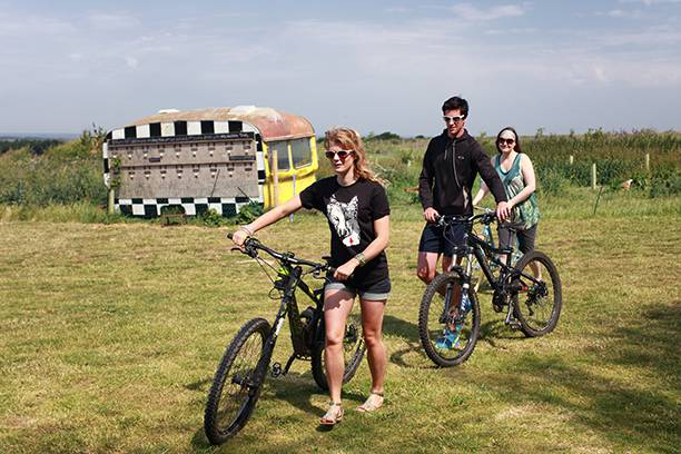 Cycling at Toms eco lodges