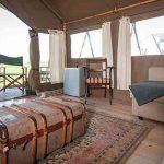Safari tent view