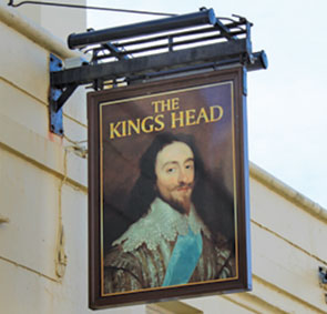 the kings head pint of ale