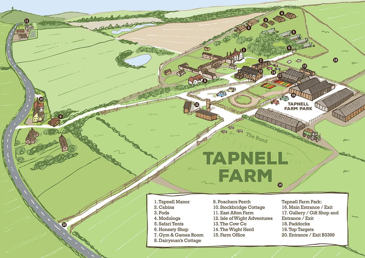 Tapnell Farm Map