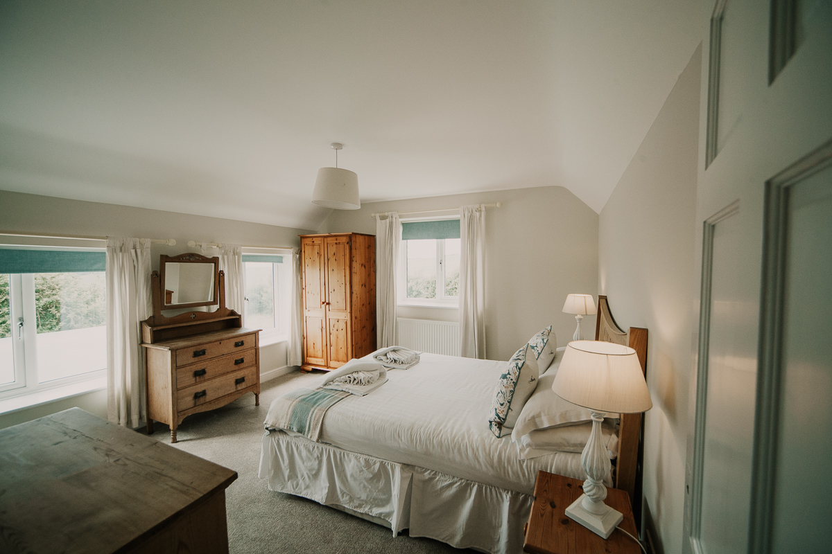 A double bedroom at Stockbridge Cottage, Tapnell Farm