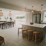 Open plan living at Stockbridge Cottage, Tapnell Farm