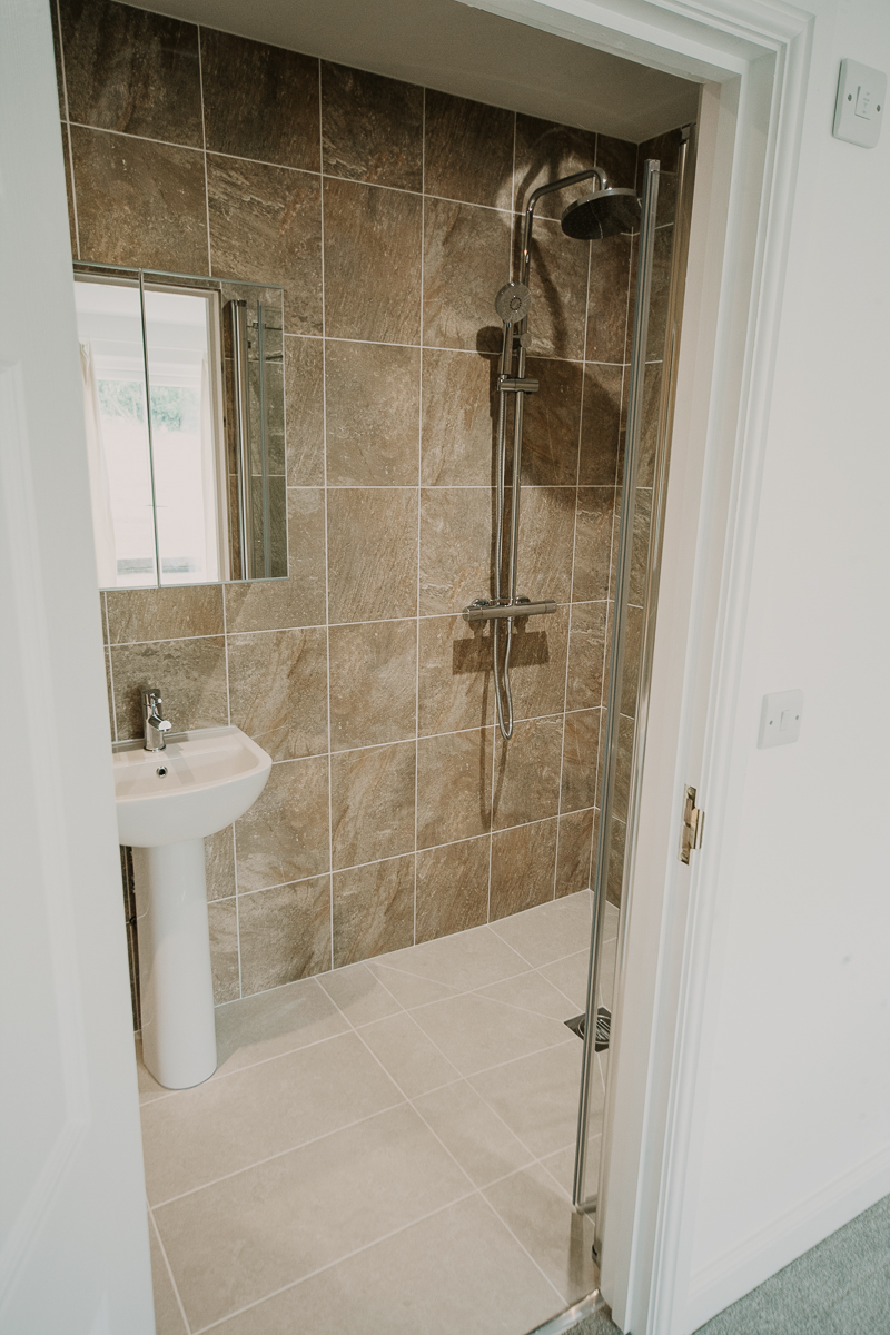 Shower room at Stockbridge Cottage, Tapnell Farm